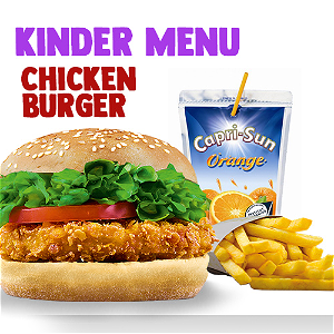 Foto Chicken burger Kindermenu